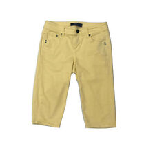 Tommy Bahama Denim Women's Bermuda Shorts Clam Digger Knee Length Yellow Size 2