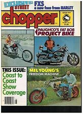 STREET CHOPPER AUGUST 1977 CONTENT 70's BAY AREA DIGGER STYLE CUSTOM CHOPPERS
