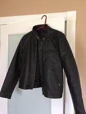 Vintage FMC Black Leather Biker Motorcycle Jacket M
