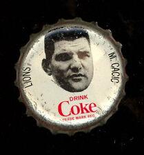 1965 COKE CAPS COCA-COLA CAP + CORK CFL FOOTBALL MIKE CACIC B C LIONS EX+ COND