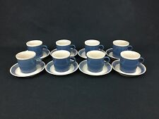 Mikasa Discovery Blue Thunder Ben Seibel EIGHT (8) Cups and Saucers - P3005 (#1)
