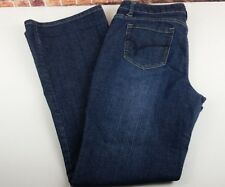 Women's FASHION BUG Boot Cut Jeans Med Wash 1% Spandex Size 12 ( 32 x 21 )  E52
