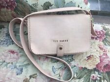 TED BAKER STAB STITCH NUDE PEBBLE LEATHER CROSS BODY BAG