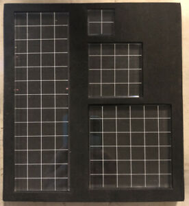 Transparent block set of 4 ~ for cling stamps with grids and foam holder