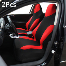 2xDurable Polyester Fabric High Back Bucket Car SUV Front Seat Cover Cushion Mat