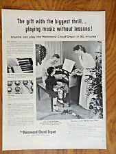 1955 Hammond Chord Organ Ad Playing Music without Lessons in 30 Minutes