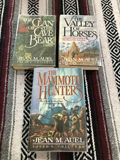 SIGNED (3) HC. Jean M. Auel Clan Of The Cave Bear, Valley Of Horses, Mammoth