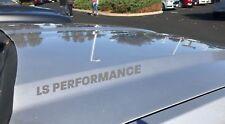 LS Performance Hood Decal Logo Chevy Cadillac Corvette Pontiac GTO Camaro Silver