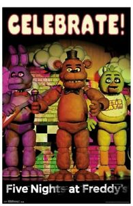 Five Nights At Freddys Celebrate Wall Poster Home Decor NWT