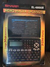 Sharp El-6800B Memo Master electronic Organizer large 34 Kb phone Brand New