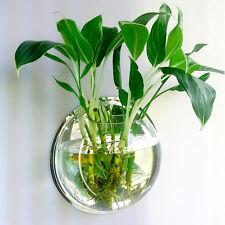 Mini Wall Mount Hanging Fish Bubble Aquarium Bowl Tank Home Decor Pot Plant Gift
