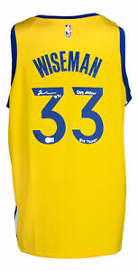 James Wiseman Signed Warriors Nike Jersey Dub Nation Big Ticket Inscribed BAS