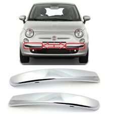 FIAT 500 LOUNGE FRONT LOWER BUMPER CHROME MOULDING TRIM LEFT + RIGHT SIDE NEW