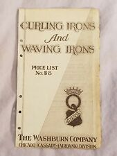 1926 Androck WASHBURN COMPANY CURLING IRONS WAVING IRONS Price List Advertising
