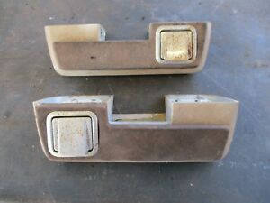65 PLYMOUTH BELVEDERE II SATELLITE ARM RESTS W/ ASH TRAYS SOLID BASES OEM