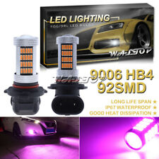 92SMD 9006 HB4 LED Fog Light Bulb Halogen Replace Pink Purple High Power Upgrade