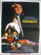 MACBETH Affiche Cinéma / Movie Poster ROMAN POLANSKI Jon Finch