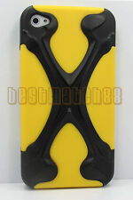 for iphone 4 4s hybrid soft and hard case 3D cool X design and film /