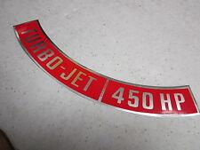 65 66 67 68 69 70 Chevelle El Camino Corvette 396 454 air cleaner decal 450HP