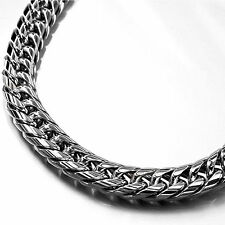 Silver necklace stainless steel chain mens solid heavy top quality