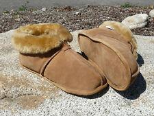 Ladies Australian Sheepskin Slippers-Soft Leather Sole ~ Size 5 6 7 8 9 10