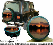 Sonnenuntergang Suzuki SUV Jeep Bus Caravan Truck Reserveradabdeckung Rad Bezug