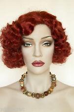 Henna Red Red Medium Skin Top Wavy Curly Costume Wigs