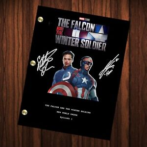 The Falcon and the Winter Soldier Autographed Script Transcript Reprint Signed
