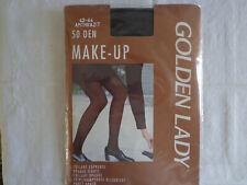 Vintage Golden Lady Make-Up  Strumpfhose Gr.42/44 schwarz-anthrazit