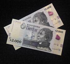 URUGUAY 2000 PESOS URUGUAYOS (P99) 2015 SERIE B UNC