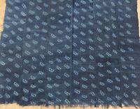 "Vintage African,Dogon Indigo Resist Dyed Fabric/Hand Woven Cotton Strips/38""x60"""