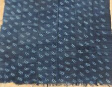 """Vintage African,Dogon Indigo Resist Dyed Fabric/Hand Woven Cotton Strips/38""""x60"""""""