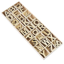 Wooden Machine Kids Cut Letters Alphabet A-Z Upper Case 26 x 6Pcs in Each Tray