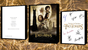 Lord Of The Rings The Two Towers Movie Poster And Autograph Signed Print