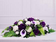 Silk Rose & Calla Lilly Top Table Spray, Wedding Flowers, Bridal, Bridesmaids