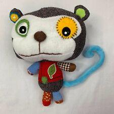 "ECO Snoopers Patchwork Monkey Plush Stuffed Animal Toy 10"""