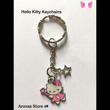 Hello Kitty Key Chain /keyrings Xmas Gift Kids Teen Lady Bulk Lot 10 Pc