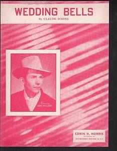 Wedding Bells 1952 Hank Williams Sheet Music