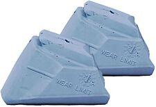 Rollerblade Inline Skate Standard Brake Pad Set - 2 Non Marking Brakes Gray Pads