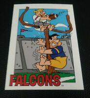 1993 CARDZ Team NFL The Flintstones Atlanta Falcons Schedule football card