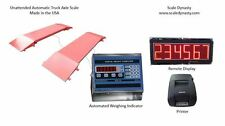 60,000 LB PORTABLE TRUCK AXLE SCALE - USA MADE INDICATOR -HARSH WEATHER SUITABLE