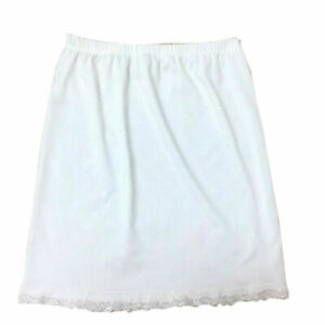 Women Waist Mini Half Slip Petticoat intimate Lingerie Polyester Skirt Slip M