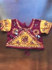 Girls choli cotton seashells mirrors sequins for 5 year old?