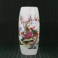 Chinese Handmade Vintage porcelain Flowers&birds Vase