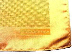 Zegna Pocket Square Golden yellow, pure silk