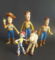 "Toy Story Action Figure Lot Thinkway Mattel Disney 7"" 6"" Woody Some Show Damage"