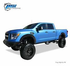 BLACK SAND BLAST TEXTURED Pocket Rivet Bolt Flares Fits 2016 Nissan TITAN XD