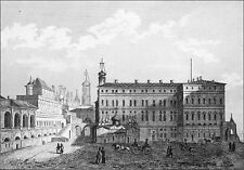 RUSSIA - OLD and NEW PALACE of TSARS in MOSCOW - Engraving from 19th century