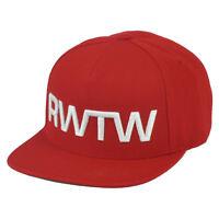 RWTW Logo Roll With The Winner Red Flat Bill Snapback Hat Cap Flag Brand Wining