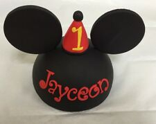 Fondant Party Hat Mickey Mouse Inspired Cake Topper
